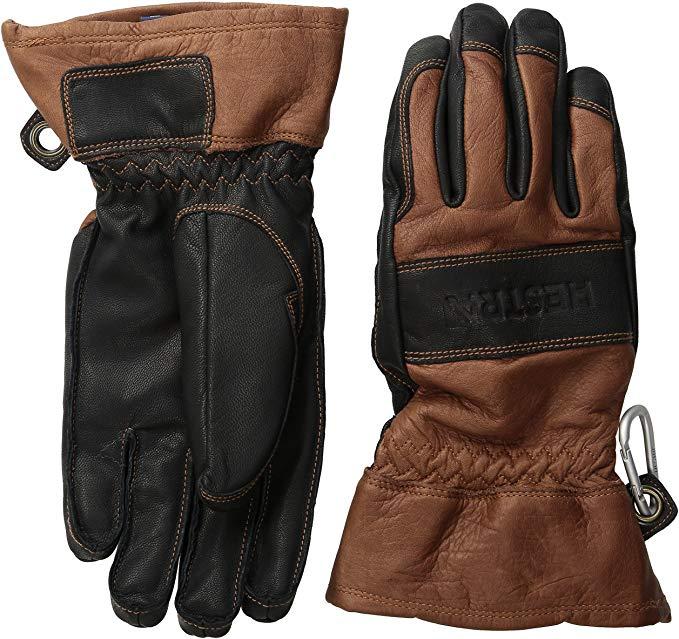 Hestra Men's and Women's Ski Gloves: Army Leather 3-Finger Winter Mitten