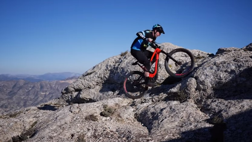 Uphill ride on an E-Mtb is truly exciting